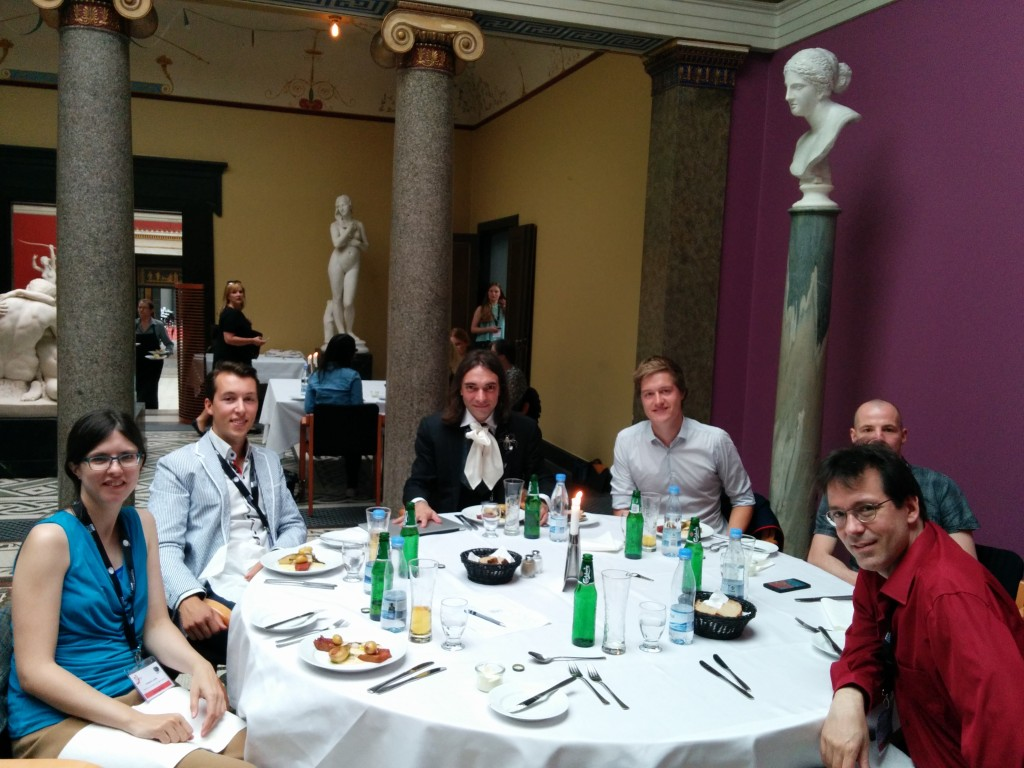 Lunch with Fields medalist Cédric Villani and 4 other young researchers.