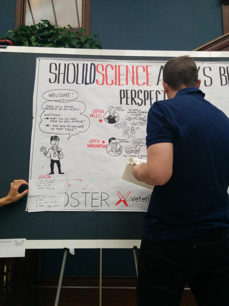 Live drawing of the session on open access.